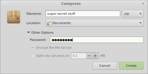 password protected files dropbox